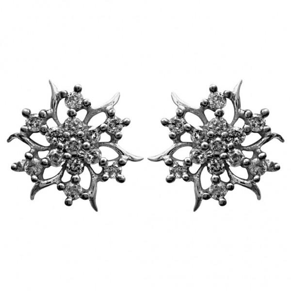 Sterling Silver  Tops made with Swarovski Zirconia STPAA481